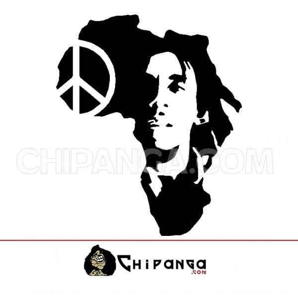 Vinilo Decorativo Bob Marley Mapa Africa Paz